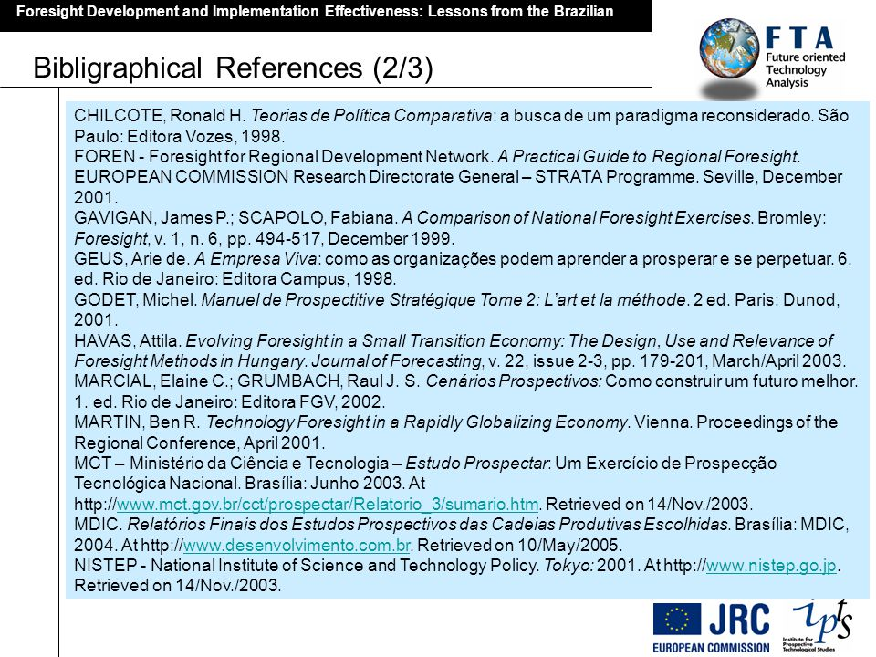 Bibligraphical References (2/3)