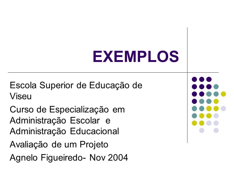EXEMPLOS Escola Superior de Educação de Viseu