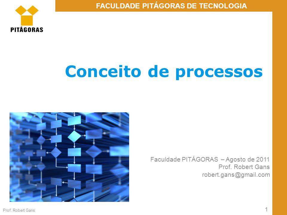 Conceito de processos Faculdade PITÁGORAS – Agosto de 2011