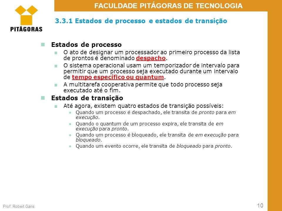 3.3.1 Estados de processo e estados de transição