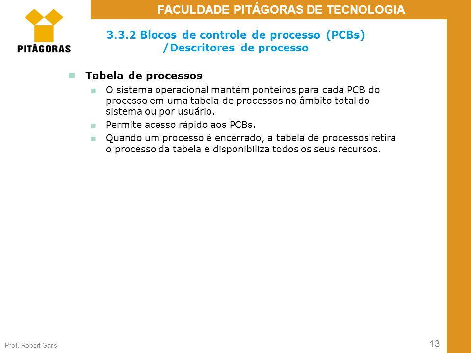 3.3.2 Blocos de controle de processo (PCBs) /Descritores de processo
