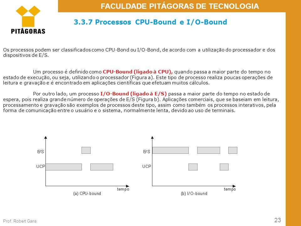 3.3.7 Processos CPU-Bound e I/O-Bound