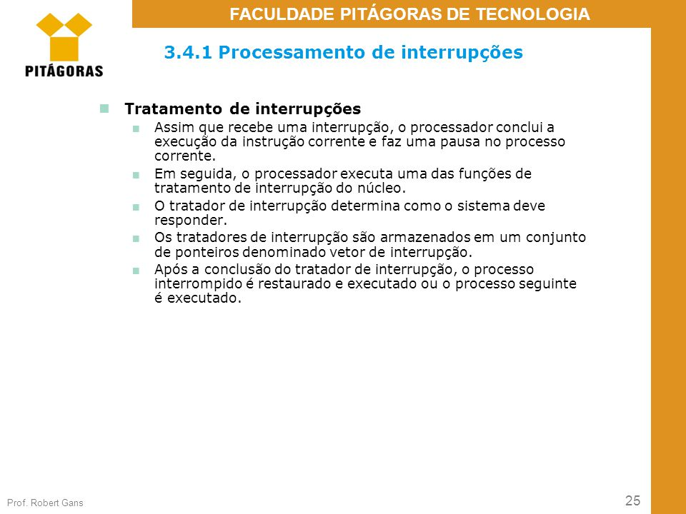 3.4.1 Processamento de interrupções