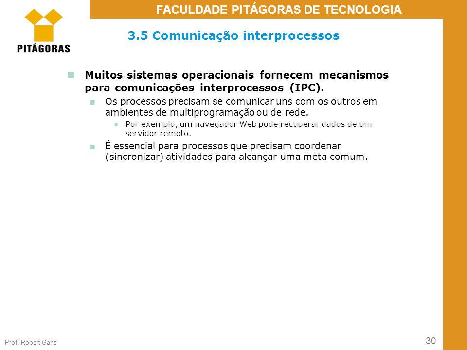 3.5 Comunicação interprocessos