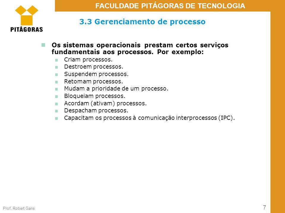 3.3 Gerenciamento de processo