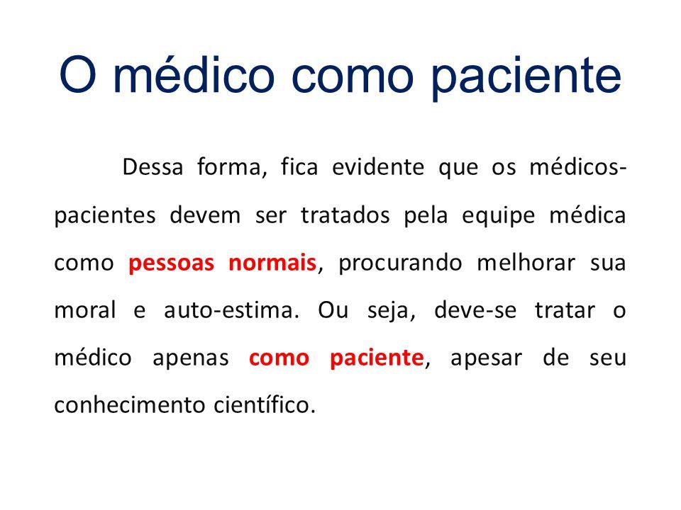 O médico como paciente