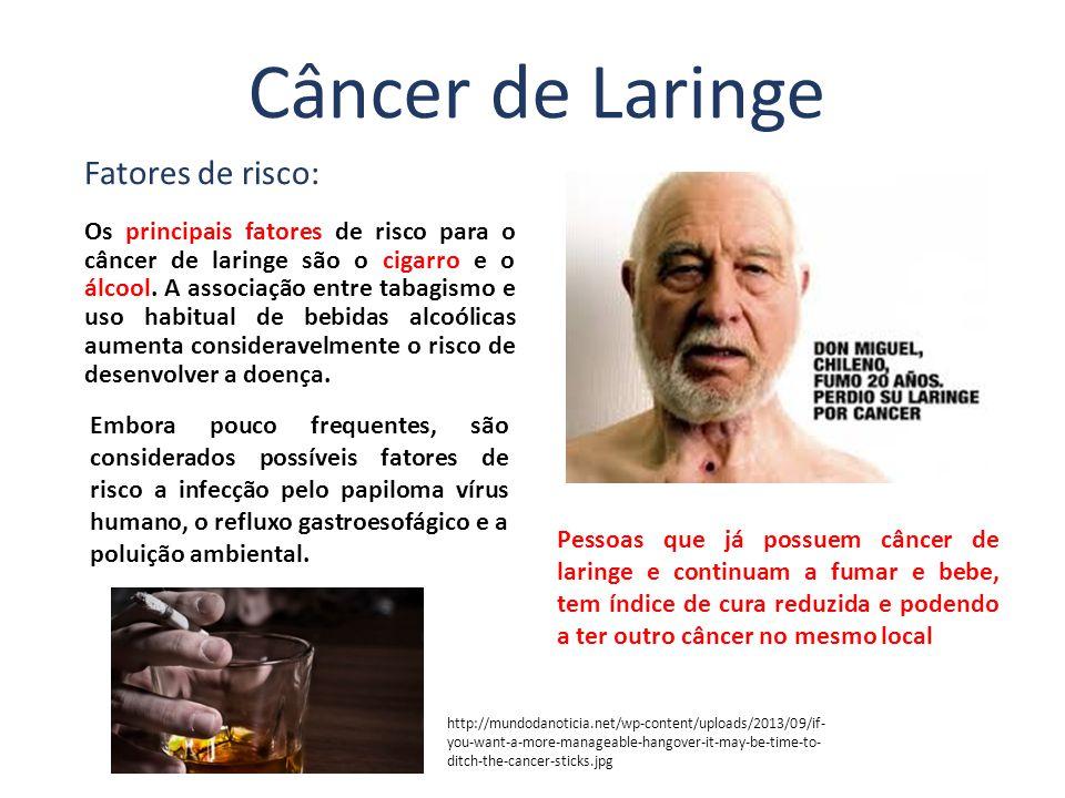Câncer de Laringe Fatores de risco: