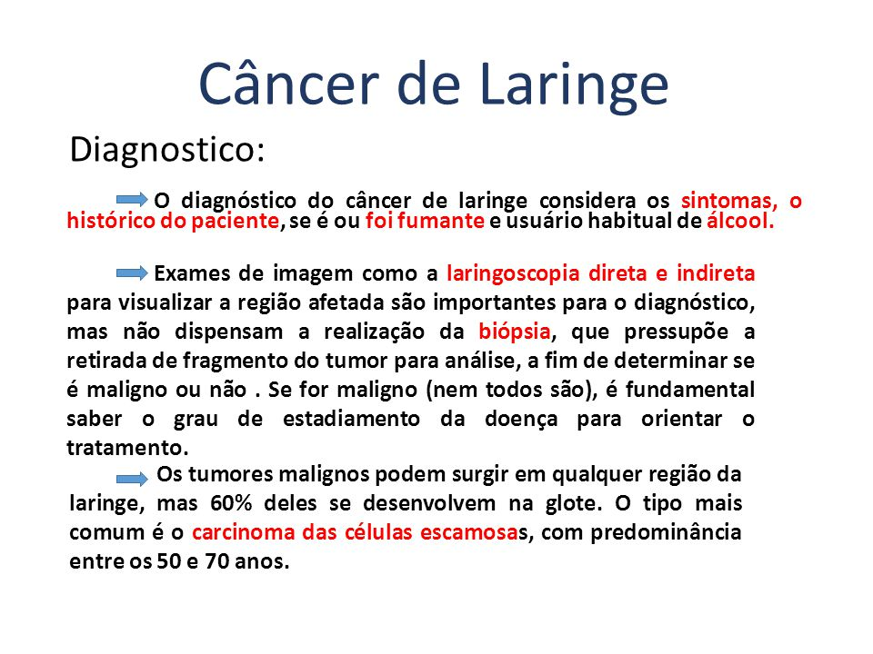 Câncer de Laringe Diagnostico: