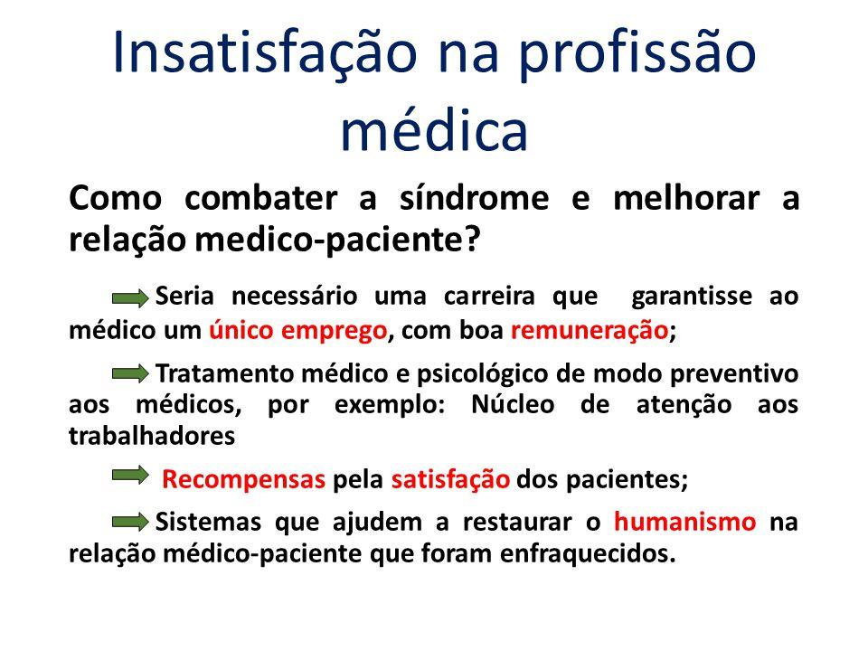 Insatisfação na profissão médica