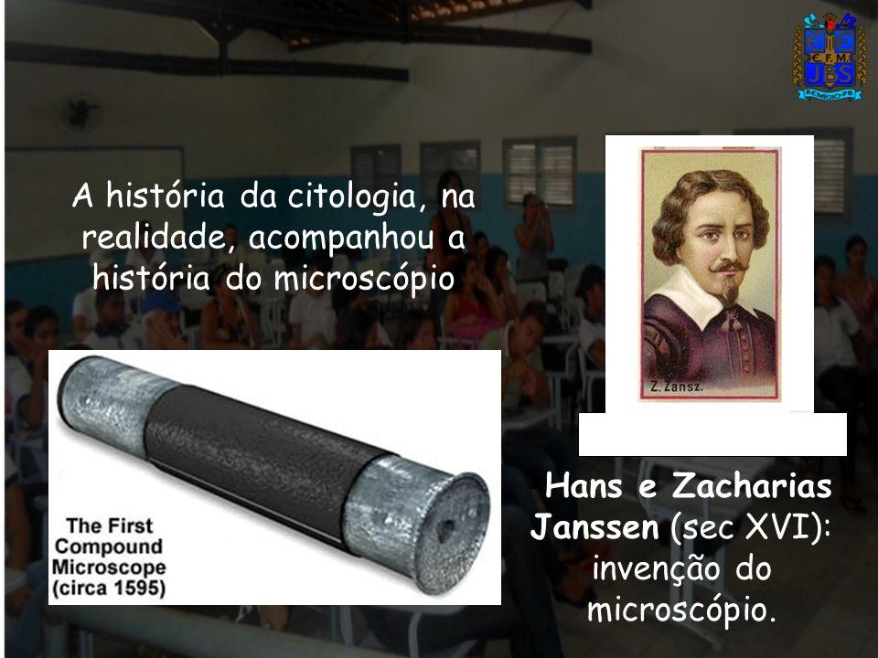 Hans e Zacharias Janssen (sec XVI): invenção do microscópio.