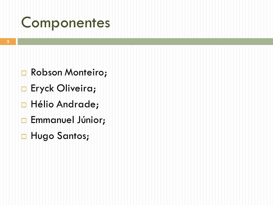 Componentes Robson Monteiro; Eryck Oliveira; Hélio Andrade;