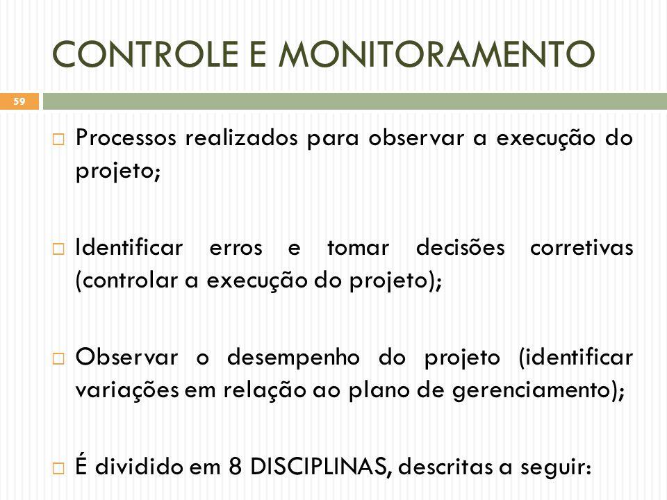 CONTROLE E MONITORAMENTO