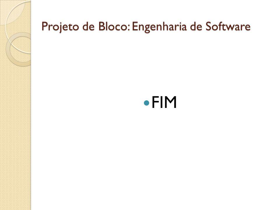 Projeto de Bloco: Engenharia de Software