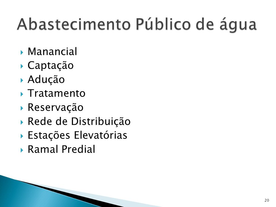Abastecimento Público de água