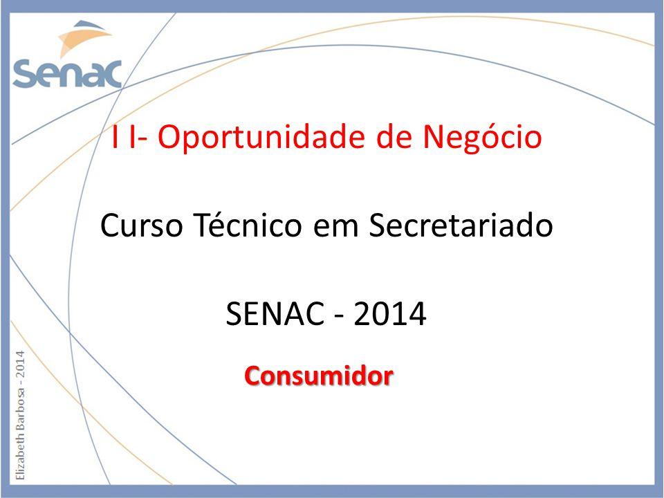 I I- Oportunidade de Negócio Curso Técnico em Secretariado SENAC - 2014
