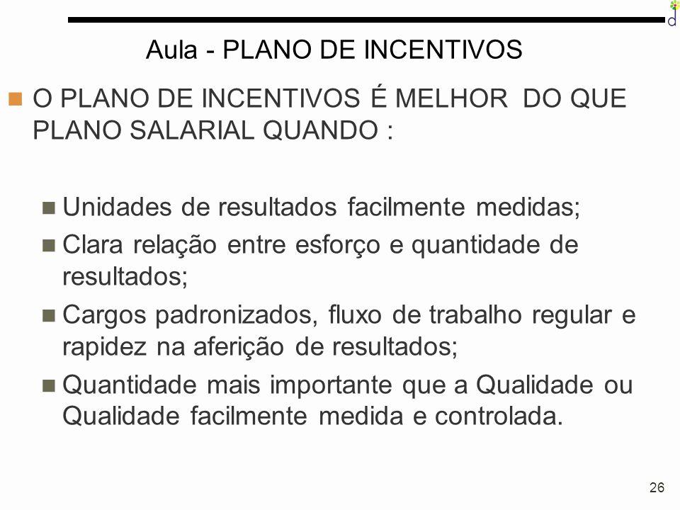 Aula - PLANO DE INCENTIVOS
