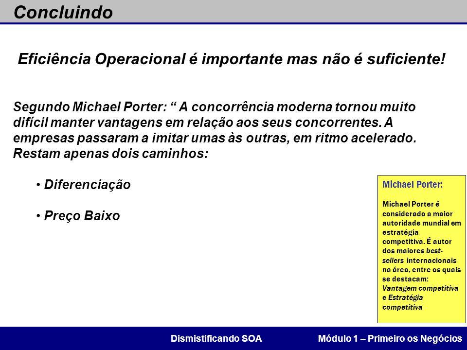Eficiência Operacional é importante mas não é suficiente!