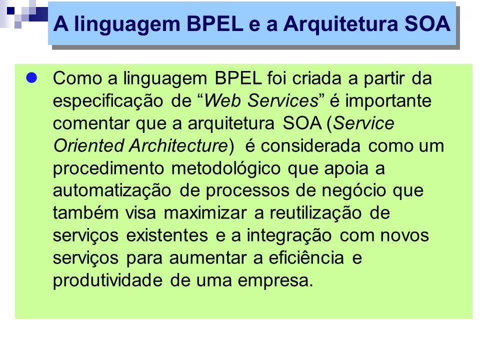 A linguagem BPEL e a Arquitetura SOA