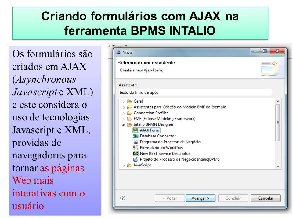 Criando formulários com AJAX na ferramenta BPMS INTALIO
