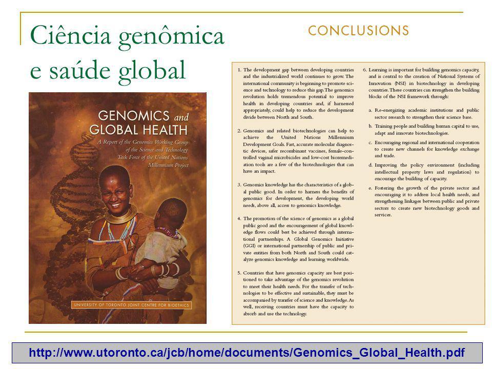 Ciência genômica e saúde global