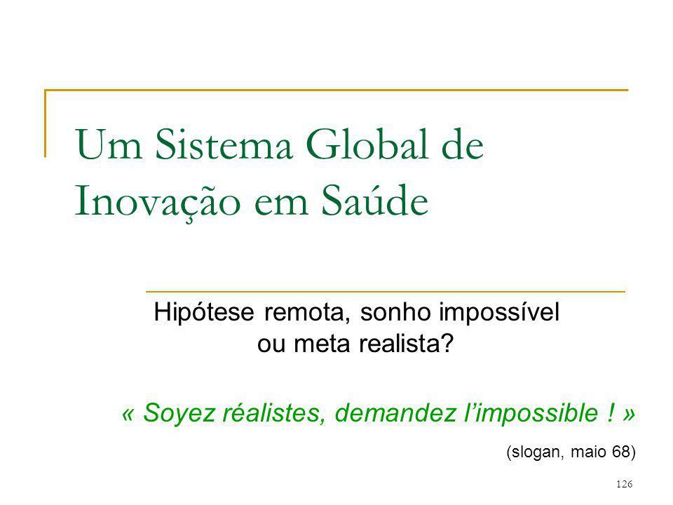 Um Sistema Global de Inovação em Saúde