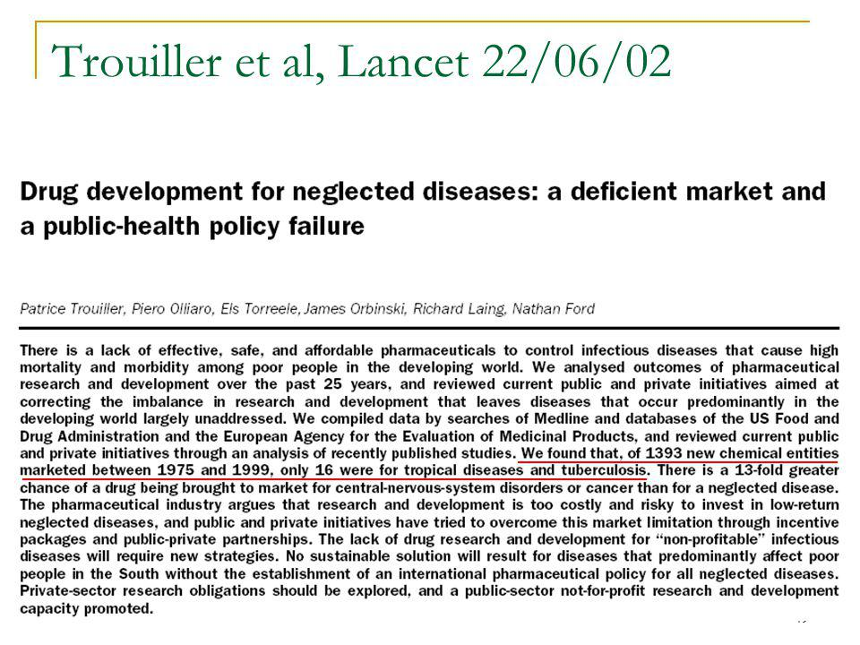 Trouiller et al, Lancet 22/06/02