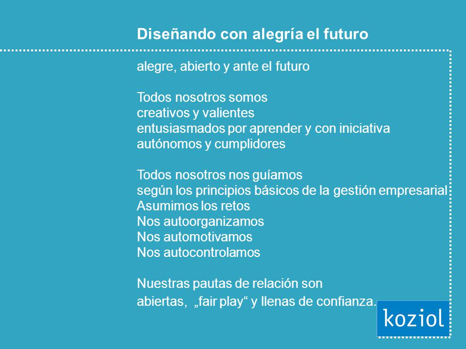 Diseñando con alegría el futuro