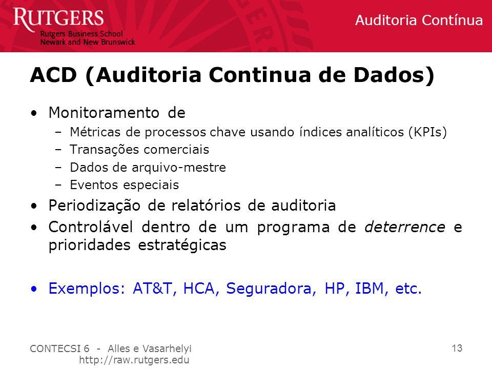 ACD (Auditoria Continua de Dados)
