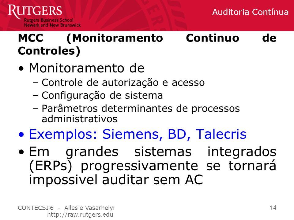 MCC (Monitoramento Continuo de Controles)
