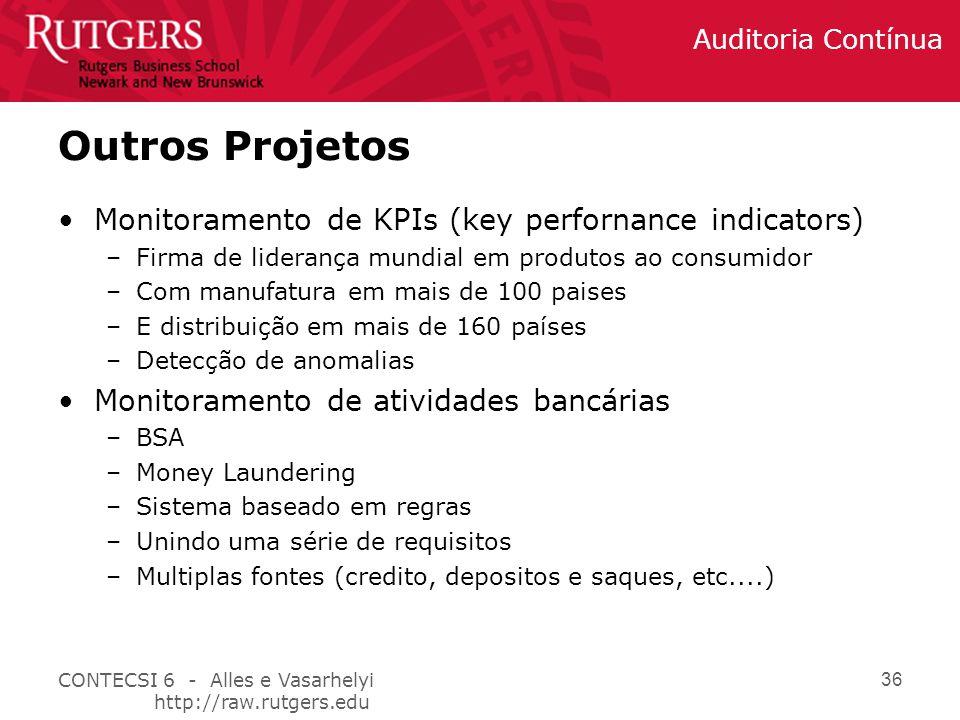 Outros Projetos Monitoramento de KPIs (key perfornance indicators)