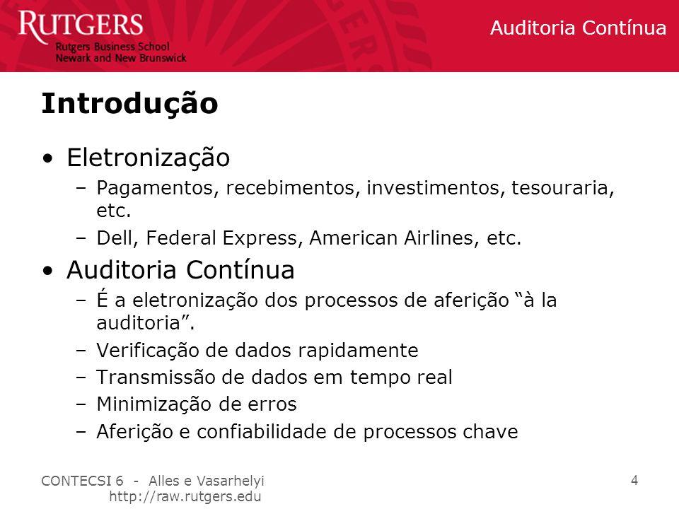 Introdução Eletronização Auditoria Contínua