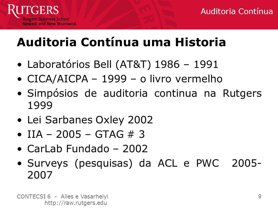 Auditoria Contínua uma Historia