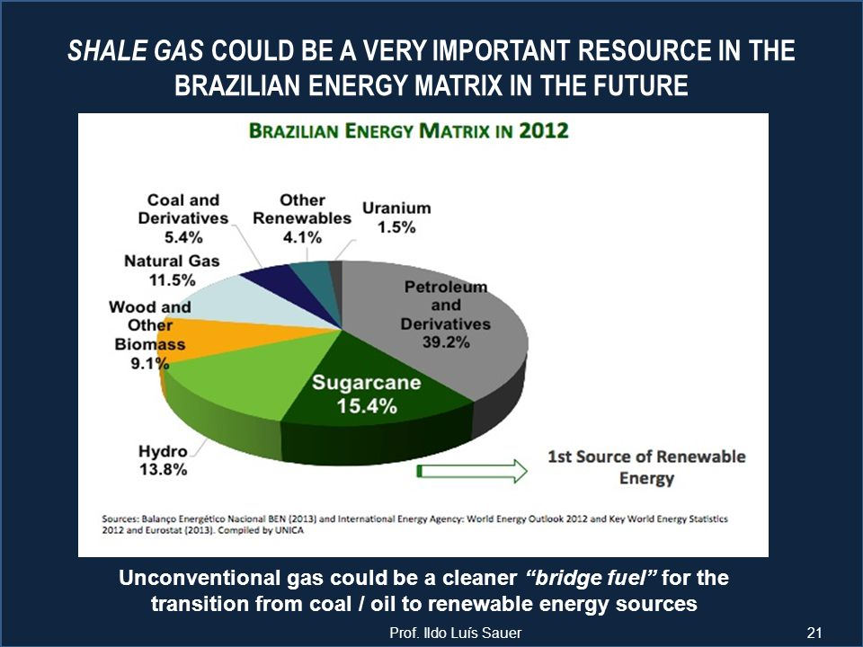 SHALE GAS COULD BE A VERY IMPORTANT RESOURCE IN THE BRAZILIAN ENERGY MATRIX IN THE FUTURE