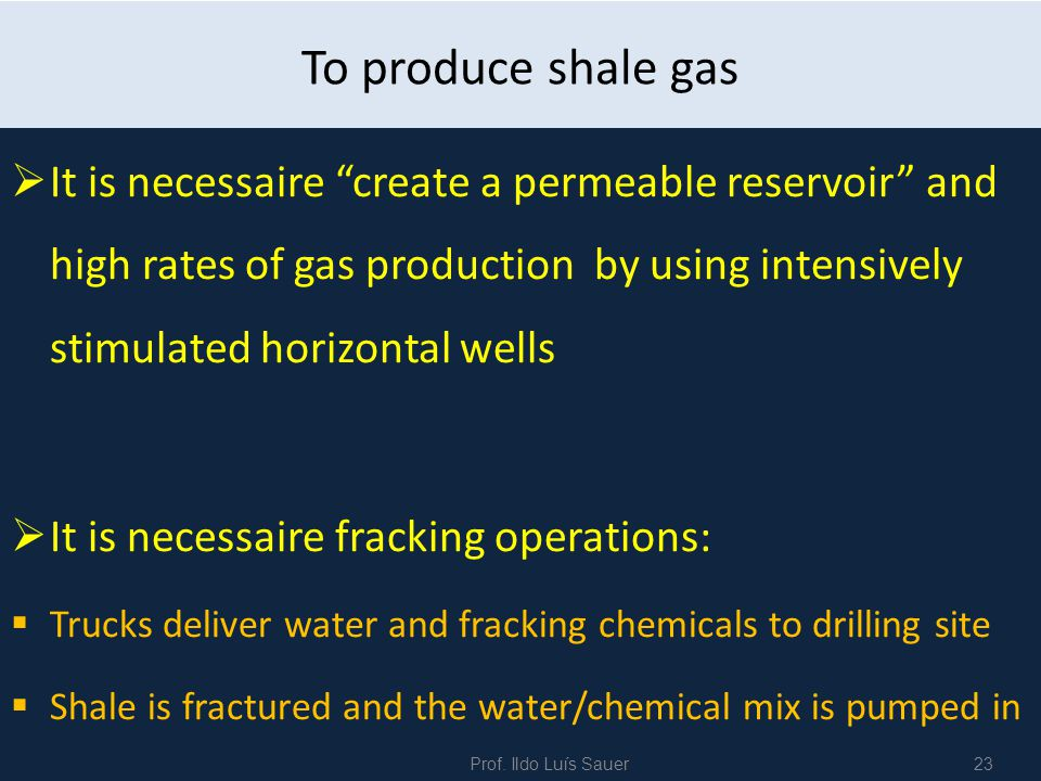 To produce shale gas