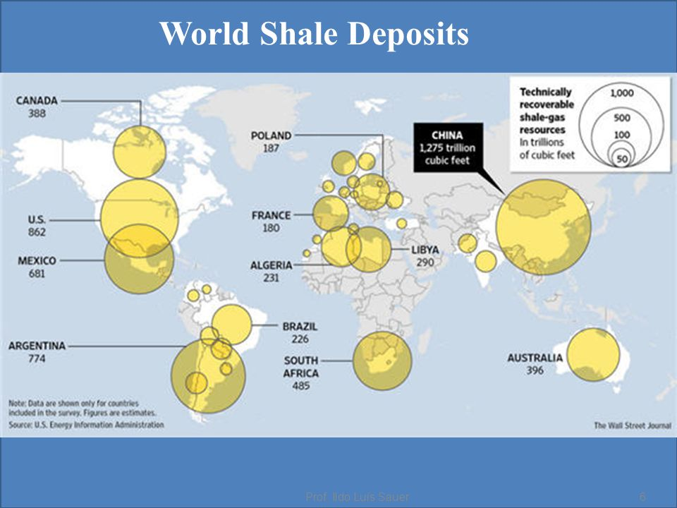 World Shale Deposits Prof. Ildo Luís Sauer