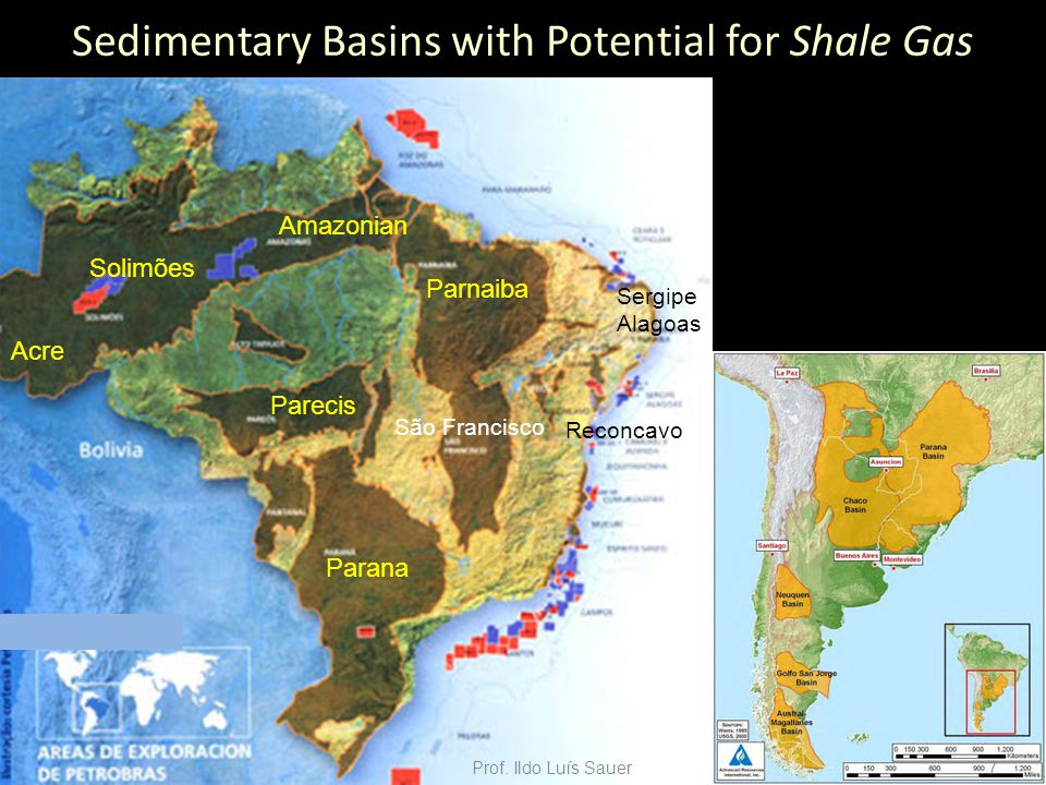 Sedimentary Basins with Potential for Shale Gas