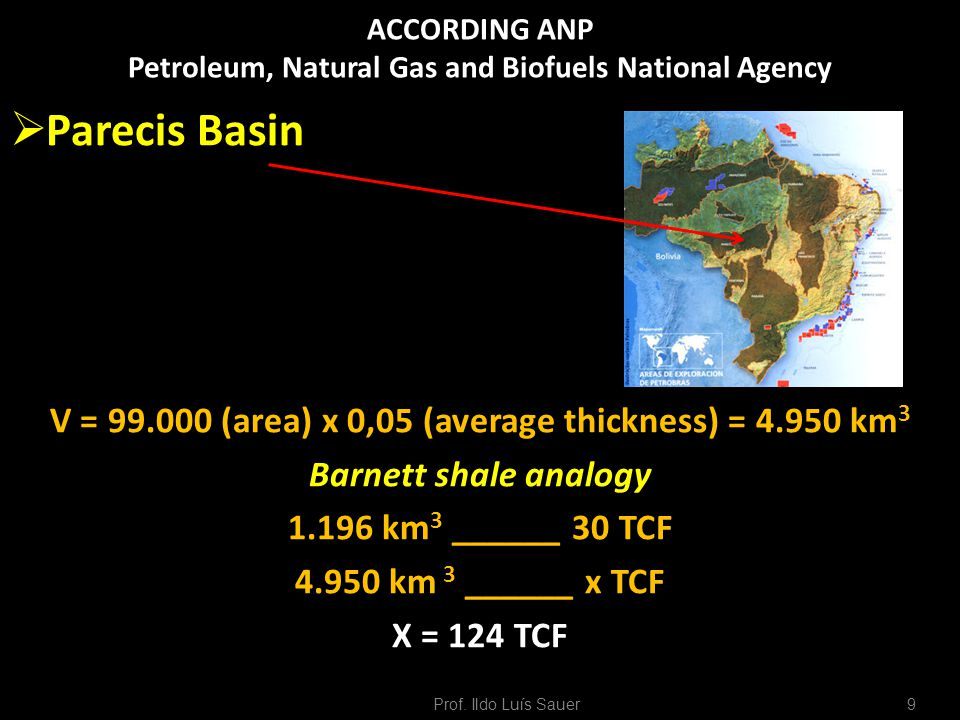 ACCORDING ANP Petroleum, Natural Gas and Biofuels National Agency