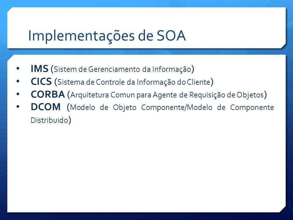 Implementações de SOA IMS (Sistem de Gerenciamento da Informação)