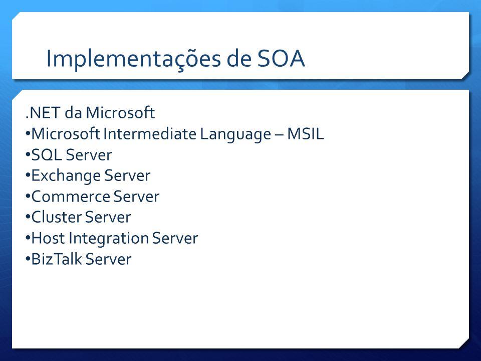 Implementações de SOA .NET da Microsoft