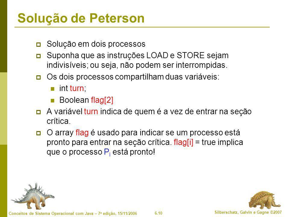 Solução de Peterson Solução em dois processos