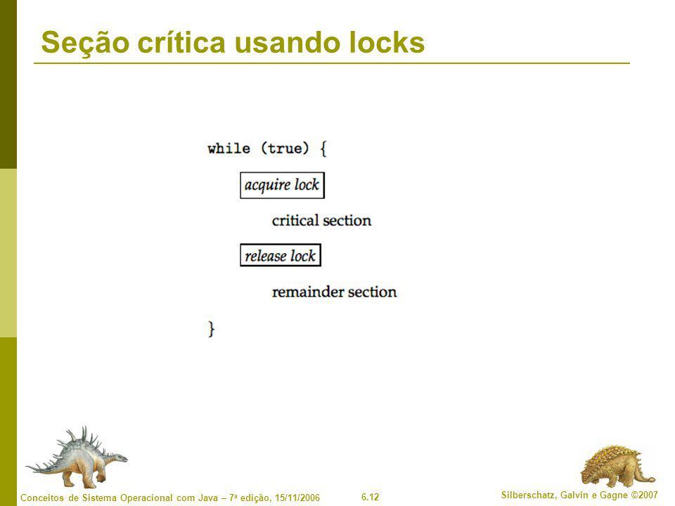 Seção crítica usando locks