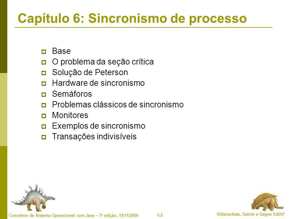 Capítulo 6: Sincronismo de processo