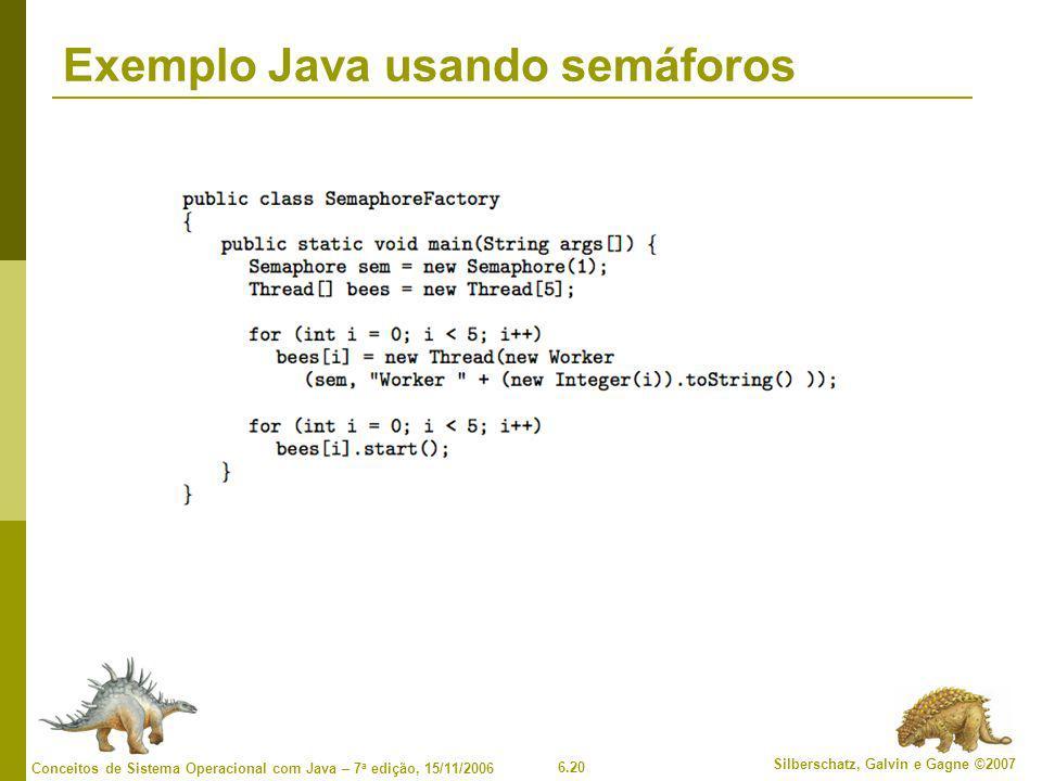 Exemplo Java usando semáforos