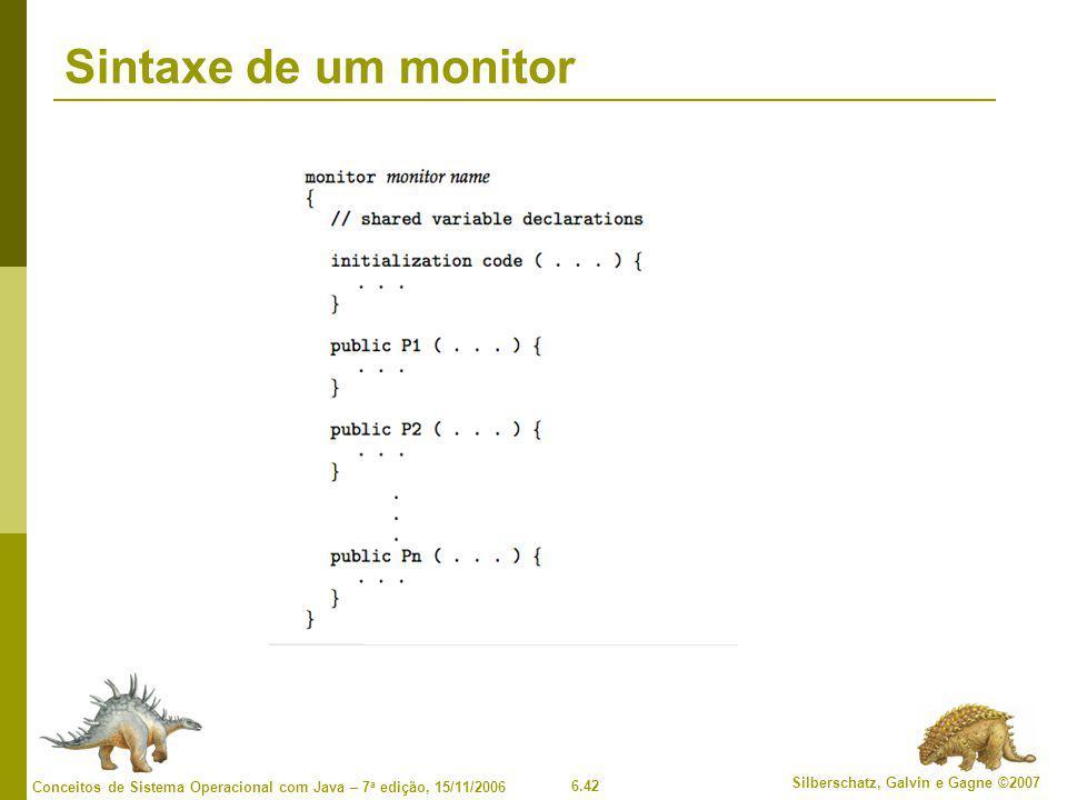Sintaxe de um monitor