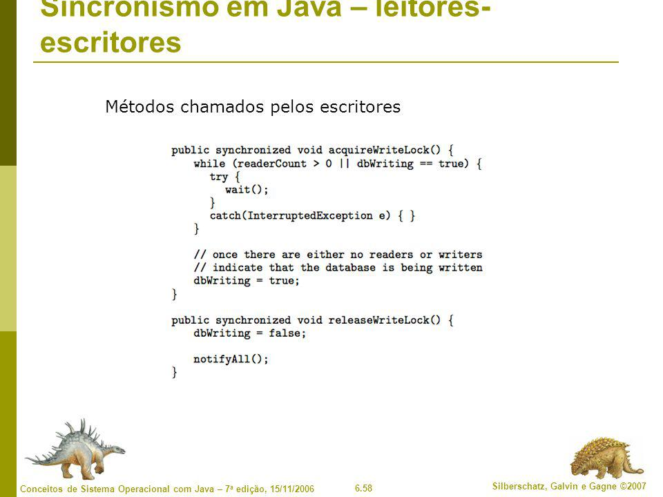 Sincronismo em Java – leitores-escritores