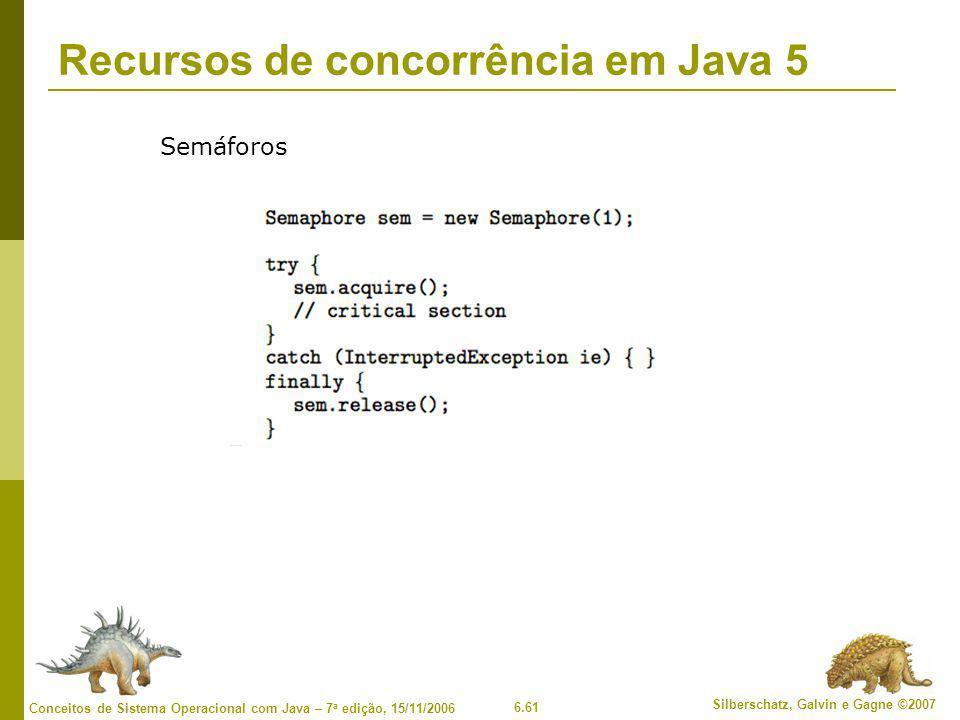 Recursos de concorrência em Java 5