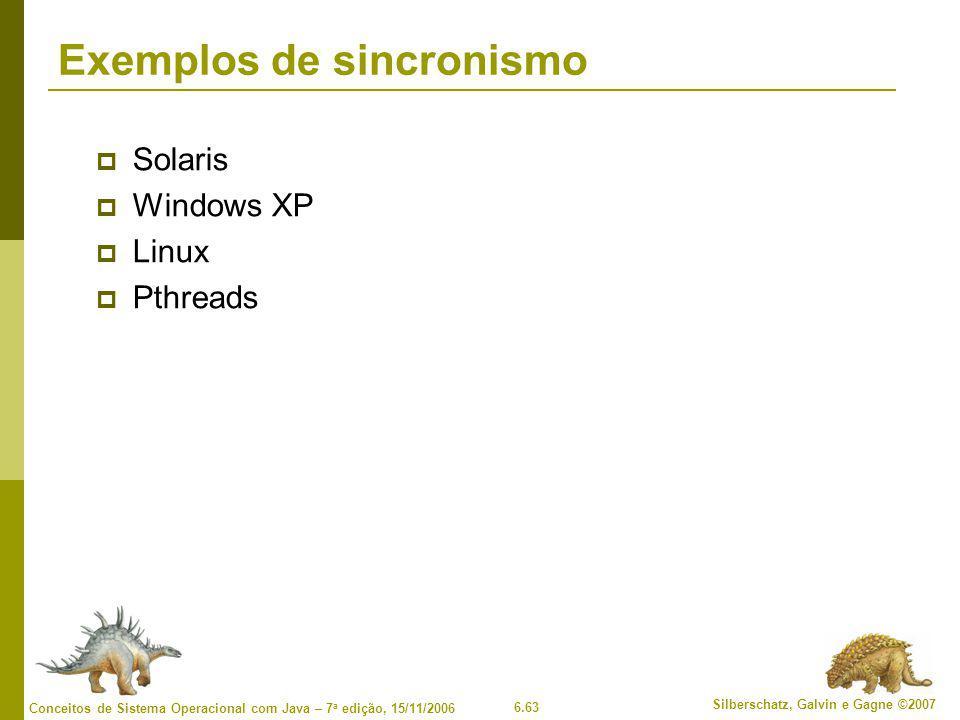 Exemplos de sincronismo