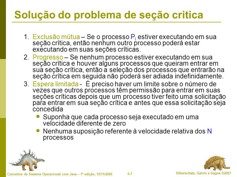 Solução do problema de seção critica