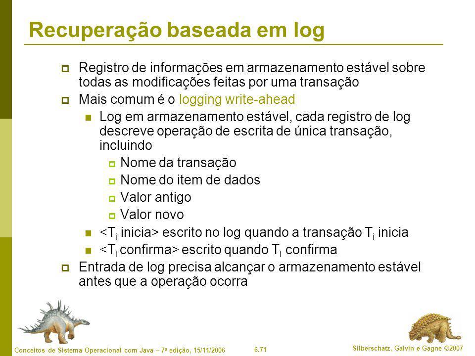 Recuperação baseada em log