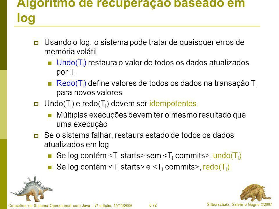 Algoritmo de recuperação baseado em log